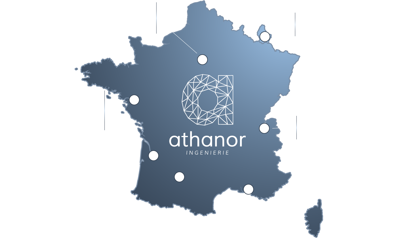 Athanor - cabinet etude - carte france
